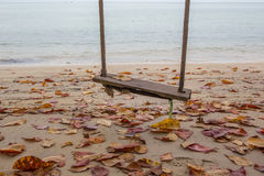 Töm gunga vid stranden III Arkivbild