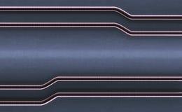 Töm konkret bakgrund med glansiga rör Utrymme för text i Mi vektor illustrationer