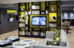 Töm lobbyen på det Citadines hotellet Arkivbilder