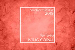 Töm marmorbakgrund Ultraviolett signal, färg av året 2018 Bo koralltemat - färg av året 2019 fotografering för bildbyråer