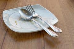 Töm maträtten efter lunch Royaltyfria Foton