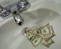 töm ner gående pengar royaltyfri bild