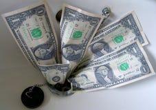 töm ner pengar Royaltyfri Fotografi