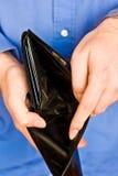 töm plånboken Royaltyfri Fotografi