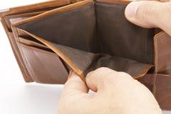 Töm plånboken royaltyfri foto