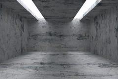 Töm rum med betongväggar och öppning i tak stock illustrationer