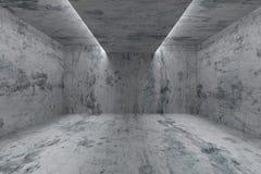 Töm rum med betongväggar och ljus i tak royaltyfri illustrationer
