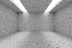 Töm rum med prickiga betongväggar och öppning i tak vektor illustrationer
