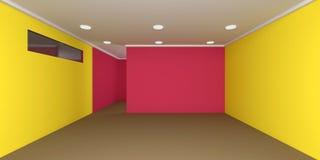 Töm rum, tolkningen 3D Royaltyfria Foton