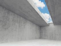 Töm ruminre, betongväggar 3d stock illustrationer