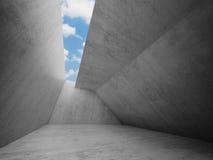 Töm ruminre med betongväggar stock illustrationer