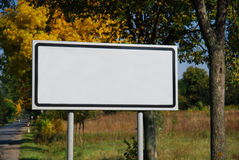 töm signboardwhite Arkivfoto
