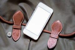 Töm skärmen Smartphone på påse arkivfoto