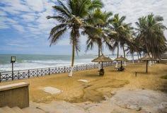 Töm strandcafen Arkivbilder