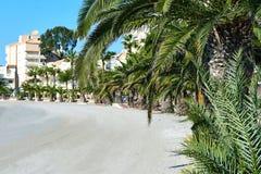 Töm stranden av La Manga spain Arkivfoton