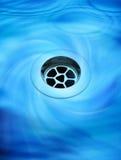 töm tömning av vatten Arkivbild