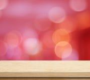 Töm tabellen över festlig bokehbakgrund för suddighet Arkivfoton