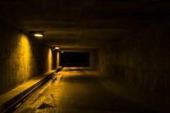 Töm tunnelen på natten Arkivfoto