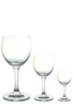 Töm wineexponeringsglas arkivbild