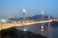 Tönen Sie Kau-Brücke in Hong Kong Lizenzfreie Stockfotografie