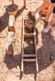 Tönerne Ziegelsteinherstellung Stockfotografie