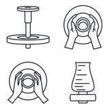 Töpferrad-Ikonensatz, Entwurfsart stock abbildung
