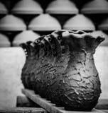 Töpferwarenblumenvase Stockfoto