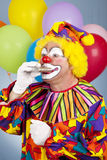 törstig clown Royaltyfri Fotografi