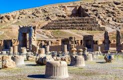 Túmulo de Artaxerxes III Persepolis acima imagens de stock royalty free