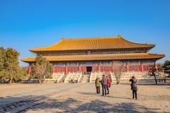 Túmulo de Changling de Ming Dynasty Tombs Shisanling na cidade China de beijing China - um local do patrimônio mundial do UNESCO imagem de stock