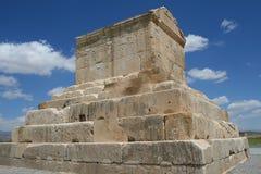 Túmulo de Cyrus o grande Persepolis próximo Fotografia de Stock Royalty Free