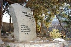 Túmulo de Gabriela Mistral Foto de Stock Royalty Free