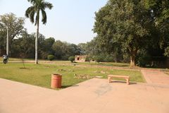 Túmulo de Humayun em Deli, Índia fotos de stock royalty free