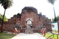 Túmulo de Humayun em Deli, Índia imagens de stock royalty free