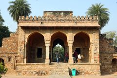 Túmulo de Humayun em Deli, Índia foto de stock royalty free
