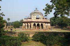 Túmulo de Humayun em Deli, Índia fotografia de stock