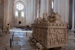 Túmulo de Ines de Castro fotos de stock royalty free