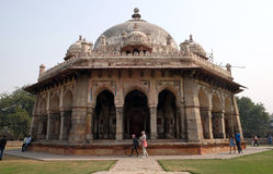 Túmulo de Isa Khan, complexo do túmulo de Humayuns, Deli imagens de stock