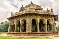 Túmulo de Isa Khan Niyazi, complexo de Humayan, Nova Deli imagem de stock