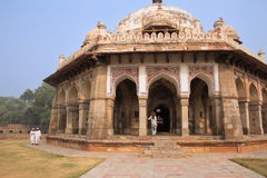 Túmulo de Isa Khan Niyazi no complexo do túmulo de Humayun, Deli, Índia imagem de stock royalty free
