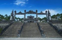 Túmulo de Khai Dinh, matiz, Vietname. Local do patrimônio mundial do UNESCO. Imagem de Stock
