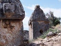 Túmulo de Lycian na cidade de Tlos foto de stock