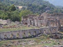 Túmulo de Lycian na cidade de Tlos imagem de stock royalty free