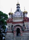Túmulo decorativo bonito da capela do estilo do russo Gomel, Bielorrússia Foto de Stock