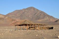 Túmulo do cemitério de Chauchilla - Nazca Peru imagens de stock