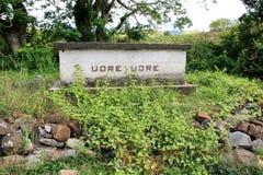 Túmulo do chefe Udre Udre do canibal, Fiji, 2015 Imagem de Stock