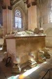 Túmulo do rei John Eu e Philippa no monastério de Batalha em Portuga Imagens de Stock