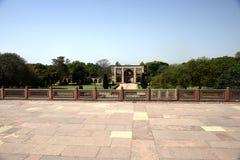 Túmulo do ` s de Humayun na Índia imagem de stock