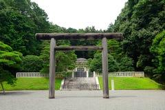 Túmulo do ` s de Tenmei da imperatriz, Hachioji, Japão imagem de stock