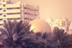 Túmulo dos retratos da mesquita na área residencial Ajman, situado em DUBAI, UAE 28 de julho de 2017 Foto de Stock Royalty Free